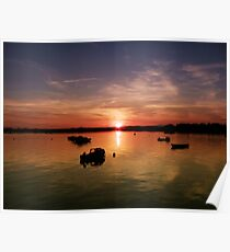 Sunset in Wexford Harbour Ireland  Poster