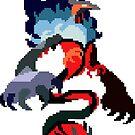Pixel Yveltal by pixelatedcowboy