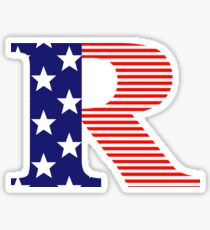 Rated R American Flag Version Sticker