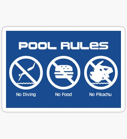 Pool Rules (Sticker Version) Sticker