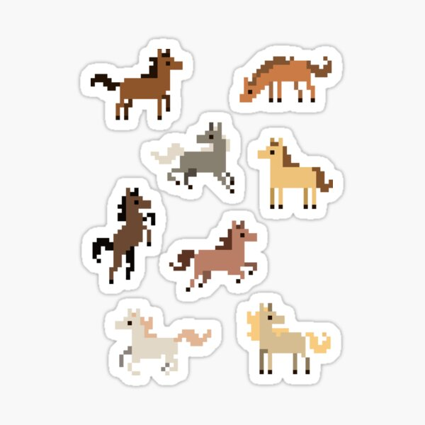 Pixel Horses - Set of 8 Sticker
