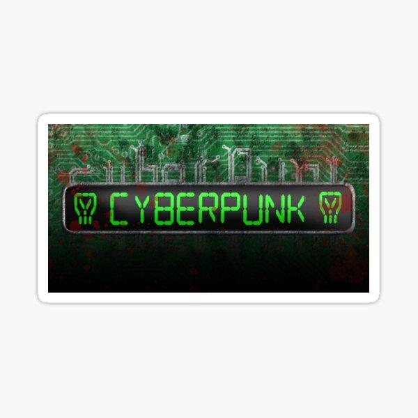 Cyberpunk Circuit Sticker