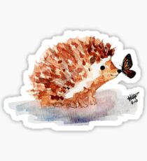 Hedgehog and Butterfly Kisses Sticker