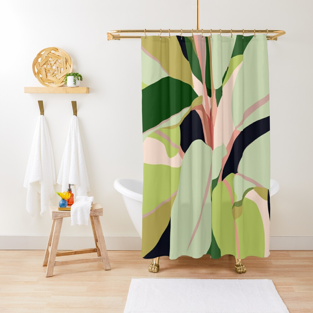 To Plant a Garden is to Believe in Tomorrow #painting #illustration Shower Curtain