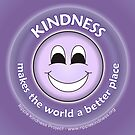 Kindness Makes The World a Better Place - Purple Sticker by RippleKindness