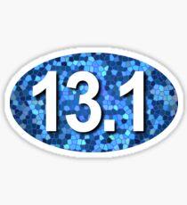 13.1 Blue Mosaic  Sticker