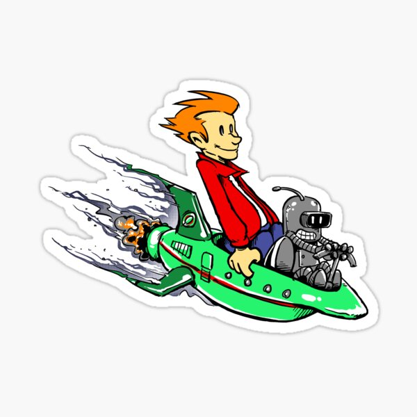 Bender & Fry STICKER! Sticker