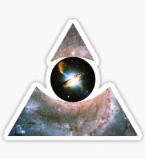 Pinwheel Galaxy, Eye of Centaurus A [Triangle] | Third Eye Sticker