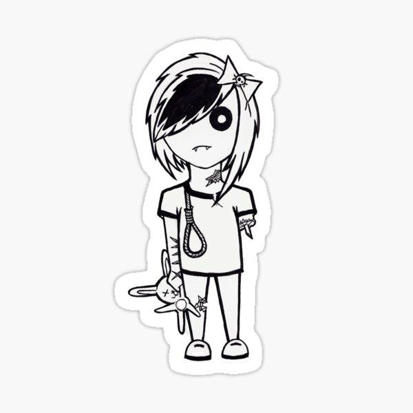 """Emo Zombie"" Sticker"