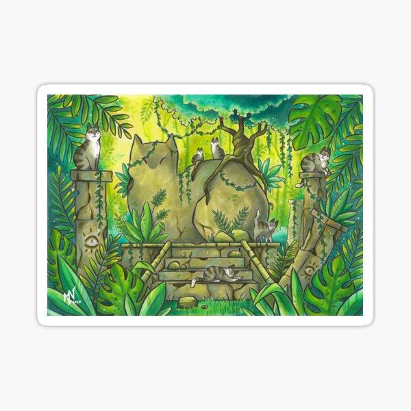 Jungle Cat Ruins Sticker