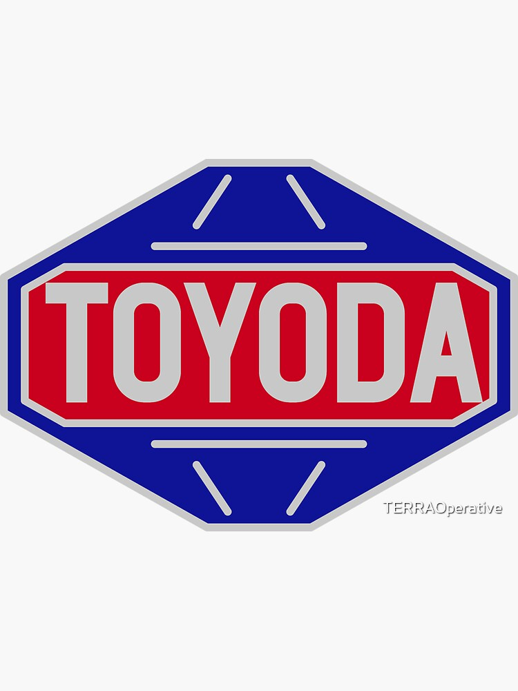 Original Toyota logo - 'Toyoda' Sticker by TERRAOperative