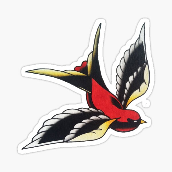 Left Swallow Sticker