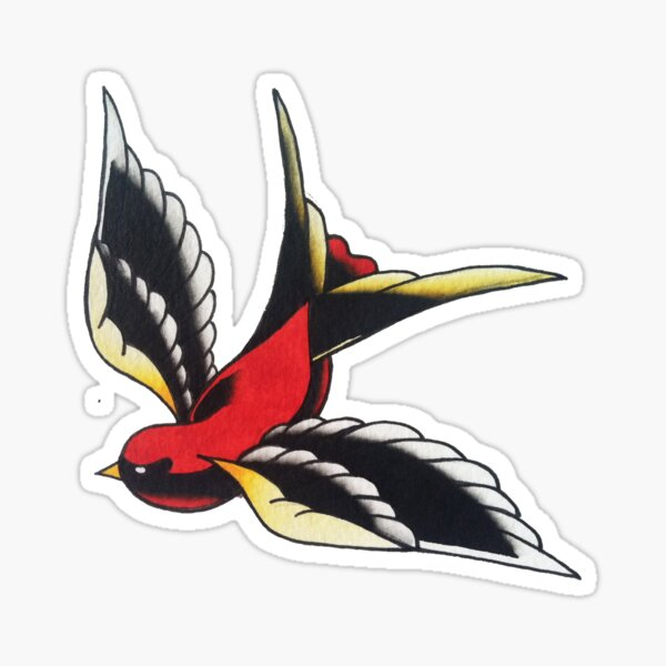 Right Swallow Sticker