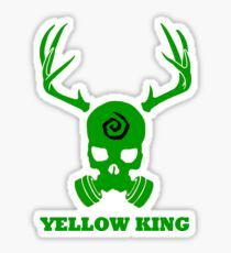 True Detective - Yellow King Gas Mask - Green Sticker
