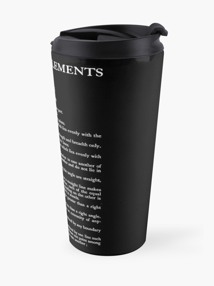 Alternate view of HIGH RESOLUTION The Thirteen Books of Euclid's Elements Euclid First Page Travel Mug