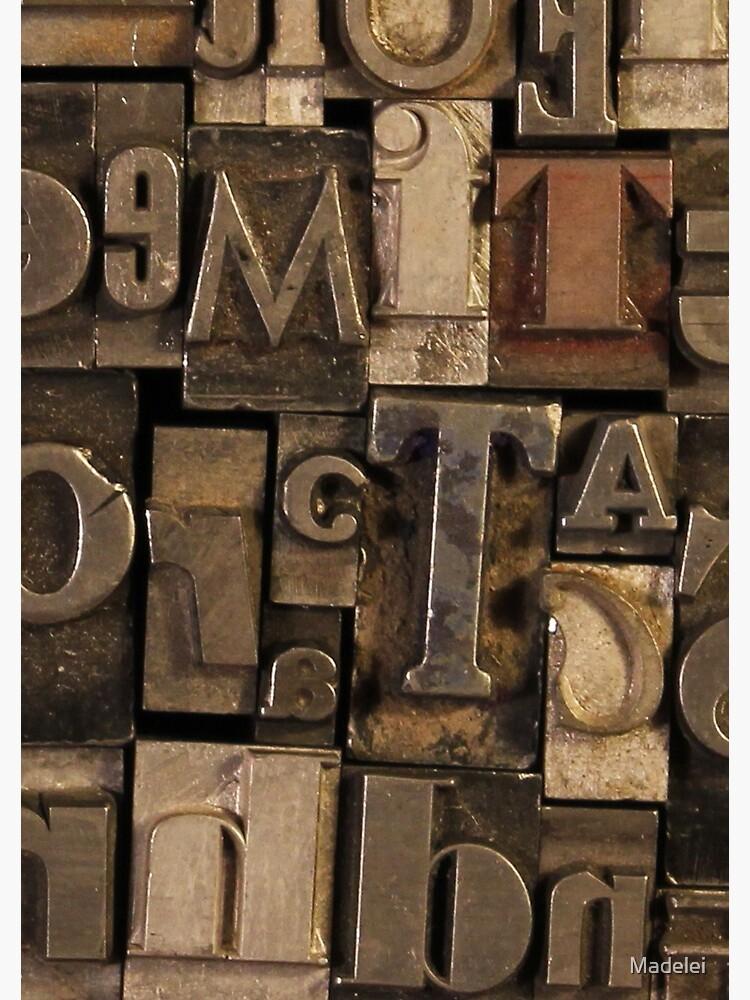 Letterpress Sorts by Madelei