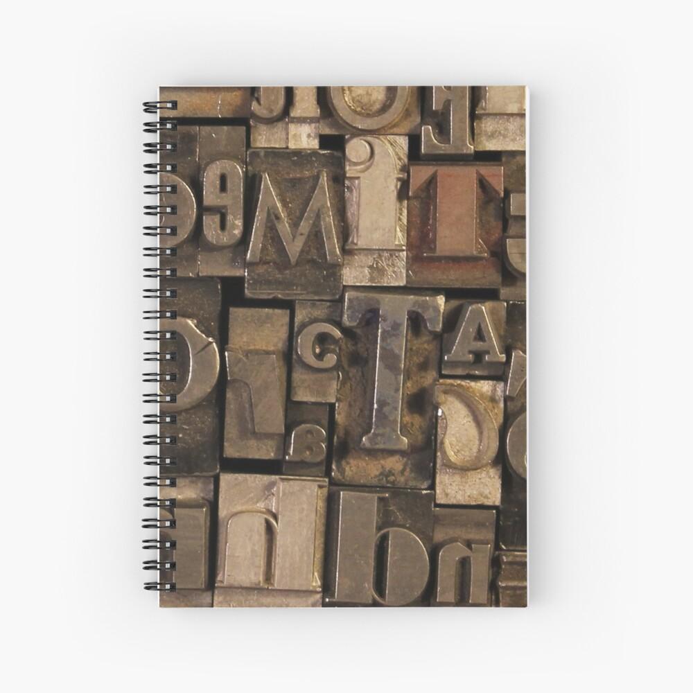 Letterpress Sorts Spiral Notebook