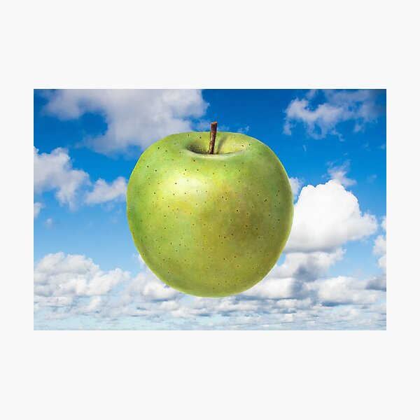 Floating Apple in Blue Sky - Inspired by Magritte Son of Man Photographic Print