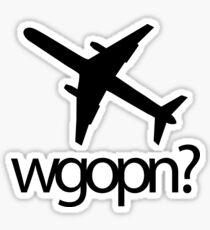 wgopn - original Sticker