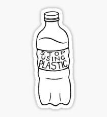 stop using plastic! Sticker