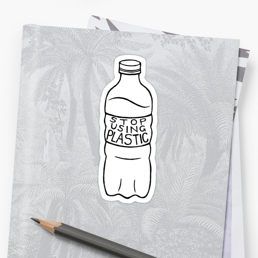 Pegatinadeja de usar plástico! Delante