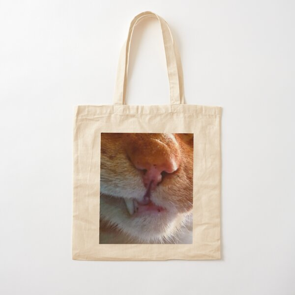 Cats Nose / Grumpy Cat / Red Cat Cotton Tote Bag
