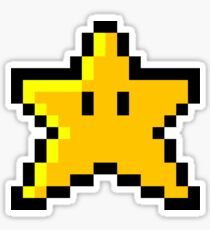 Mario Star Sticker