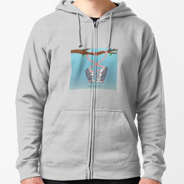 Let's Hang Out! Zipped Hoodie