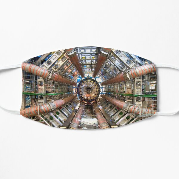 Large Hadron Collider (LHC) at CERN in Switzerland and France. Physics' largest particle accelerator. Flat Mask