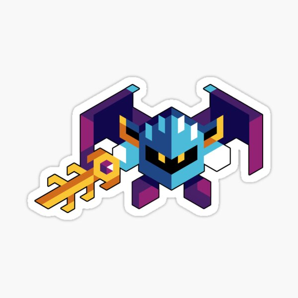 Trixel Meta Knight Pegatina