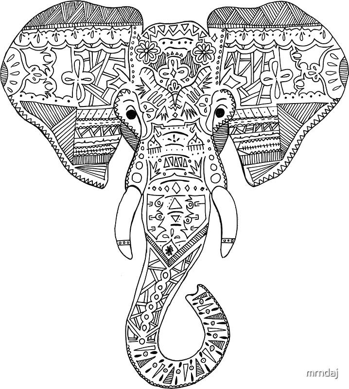 Indian Elephant Head D...