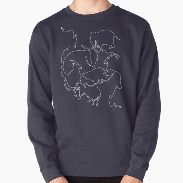 Paleolithic One Line Drawing 01: Rouffignac Pullover Sweatshirt