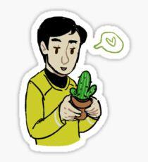 sulu with a cactus Sticker