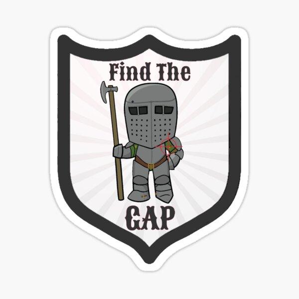 Find the Gap Sticker