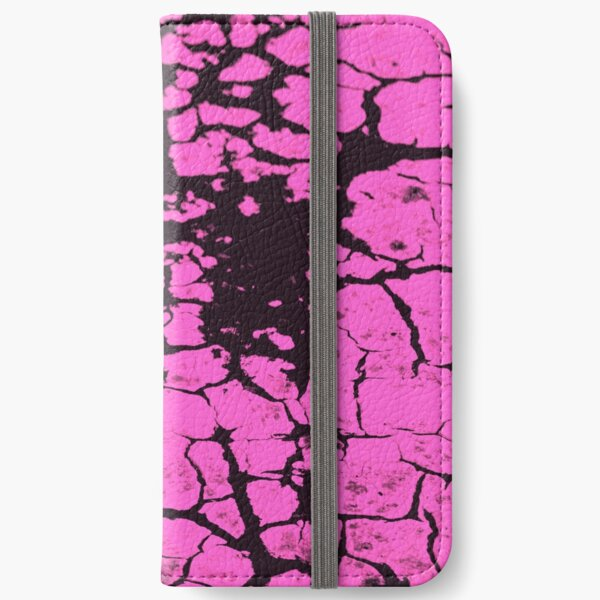 candy pink crackle glaze iPhone Wallet