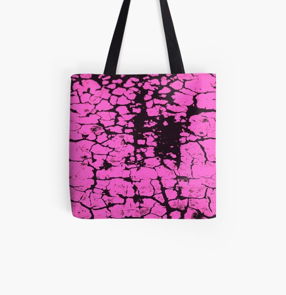 candy pink crackle glaze All Over Print Tote Bag