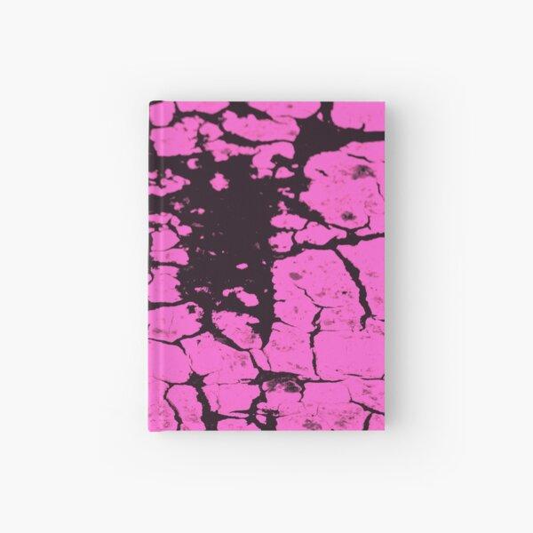 candy pink crackle glaze Hardcover Journal