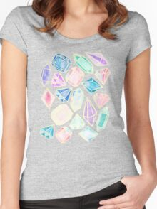 Watercolor Gems Intense Women's Fitted Scoop T-Shirt