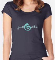 just breathe aqua (dark tee) Women's Fitted Scoop T-Shirt