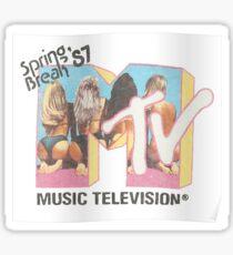 mtv spring break 1987 Sticker