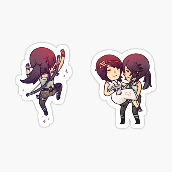 Tiny Tomb Raider B Sticker