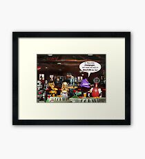 ~ So these robots walk into a bar ...  Framed Print