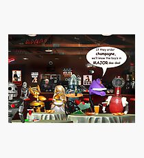 ~ So these robots walk into a bar ...  Photographic Print