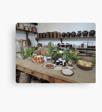 1800s Kitchen Canvas Print