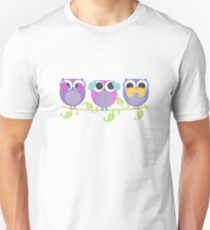 three wise owls T-Shirt