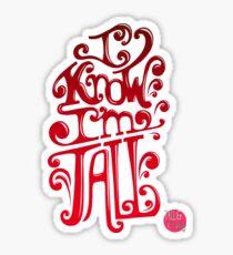 Tall N Curly - I know I'm tall / Cherry Sticker
