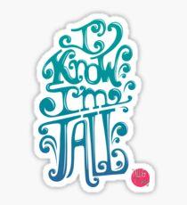 Tall N Curly - I know I'm tall / Carribean Sticker