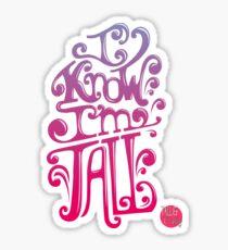 Tall N Curly - I know I'm tall / Berries Sticker