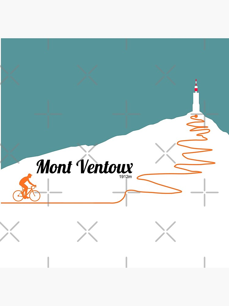 Mont Ventoux Cycling Artwork by anothercyclist