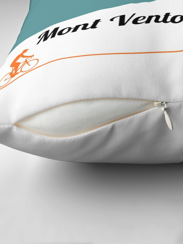Alternate view of Mont Ventoux Cycling Artwork Throw Pillow